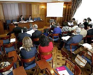 Vista general del Encuentro de Jueces de Asturias, Cantabria y Castilla y León, en Santander. (Foto: EFE)