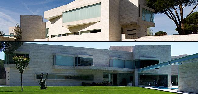 """La vivienda unifamiliar diseñada por Torres se define como """"un prisma apaisado compensado con dos cubos virados y un cilindro central"""". (FOTOS J. F. L. y A-CERO)"""