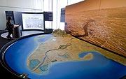 El delta del Ebro, visto en la exposición sobre el clima. (Foto: La Caixa)