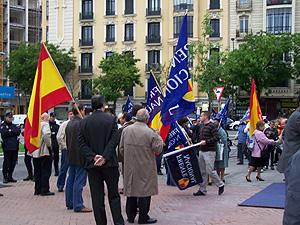 Algunos de los asistentes a la manifestación. (Foto: A.F.)