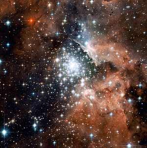 Imagen de la nebulosa NGC 3603 tomada con el telescopio Hubble. (Foto: EFE)