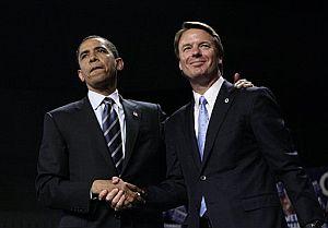 El senador Edwards da su apoyo a Barack Obama. (Foto: AP)