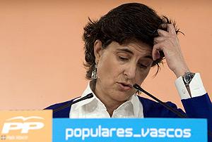 María San Gil, en la sede de su partido. (Foto: EFE)