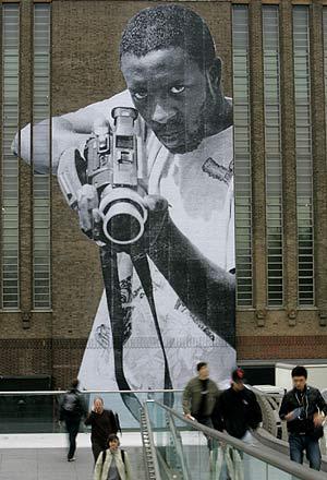 La obra de 'JR', un artista afincado en París. (Foto: AP)