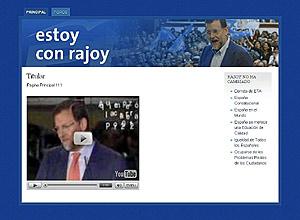 Imagen de una página web creada en apoyo de Rajoy. (Foto: