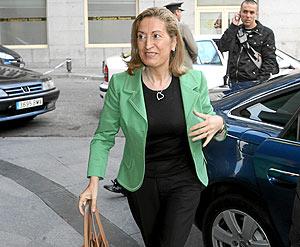 Ana Pastor, llegando al Congreso. (Foto: José Aymá)