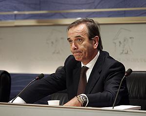 José Antonio Alonso durante su intervención. (Foto: Javi Martínez)