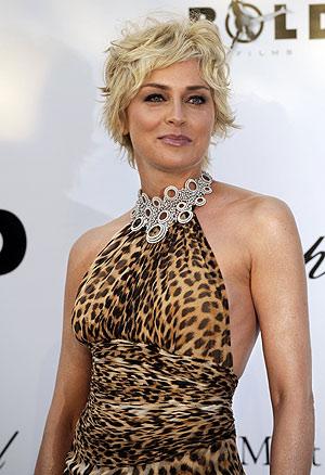 Sharon Stone en Cannes (Foto: AFP)
