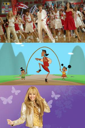 'High School Musical', 'Kuzco, un emperador en el cole' y Hannah Montana', tres de los éxitos más conocidos del canal.