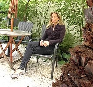Belén Domecq durante la entrevista.