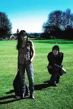 Eva Amaral y Pablo Gil en Bath. (Foto: P. G.)