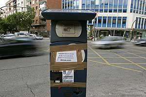 Un parquímetro de Madrid. (Foto: EFE)