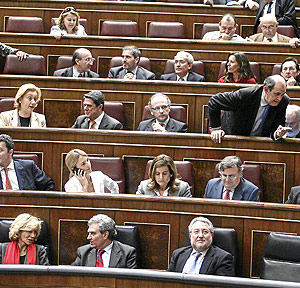 Diputados del Partido Popular en el Congreso. (Foto: Jaime Villanueva)