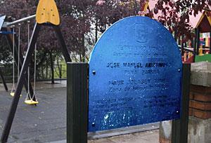 Parque en homenaje al etarra Pana en Hernani. (Foto: Justy)