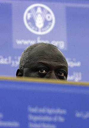 El secretario general de la FAO, en la rueda de prensa final de la cumbre. (Foto: A. Medichini | AP)