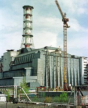 Imagen del sarcófago que actualmente cubre el reactor. (Foto: AP)