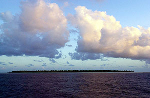 Imagen de una de las islas de Kiribati, en el Pacífico. (Foto: AP)