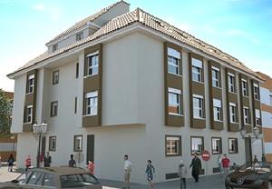 Imagen de las viviendas de La Pobla Llarga de 59.000 euros. (Recreación: alcaidezaragoza.com)