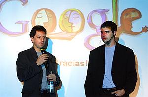Sergey Brin (i). Larry Page, creadores de Google. (Foto: RICARDO CASES)