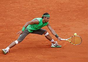 Rafael Nadal durante la semifinal de Roland Garros. (Foto: EFE)