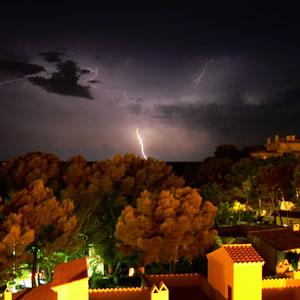 Imagen captada de una tormenta reciente en Mallorca.