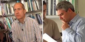 Simon Smithson y Luis Vidal, técnicos responsables del proyecto.