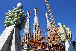 Detalle de las obras en la Sagrada Familia. (Foto: Christian Maury)
