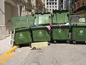Foto remitida por el lector de los contenedores en la calle Sevilla.