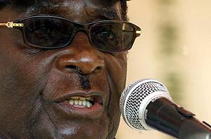 Otro momento de la intervención de Mugabe en Banket. (Foto: AFP)