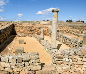 Parte de las ruinas de Numancia (Foto: JAV IER CABRERO / UNED)