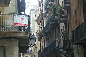 Uno de los pisos turísticos del centro de Barcelona. (Foto: Quique García)