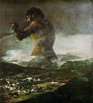'El Coloso', atribuida a Goya. (Foto: EFE)