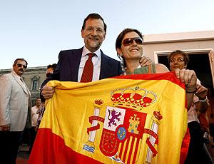 Rajoy acudió como invitado a ver el partido en Zona Cuatro. (Foto: Alberto di Lolli)