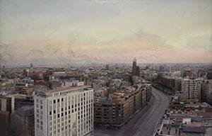 'Madrid desde Torres Blancas', de Antonio López. (Foto: Christie's | EFE)