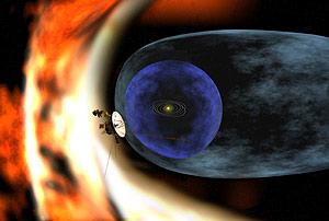 Recreación artística de la Voyager 2 estudiando los confines del Sistema Solar. (Foto: NASA/JPL)