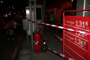 Una de las gasolineras 'clausuradas'. ( Foto: Rompamos el silencio)