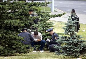 La policía bielorrusa investiga la explosión. (Foto: REUTERS)