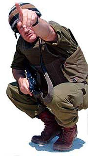 El ex oficial Ziv, cuando servía en el Ejército israelí.