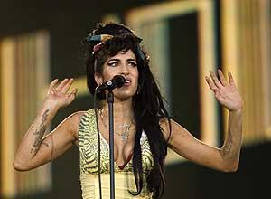 Amy Winehouse, durante su concierto. (Foto: AP)