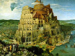 Torre de Babel, de Pieter Brueghel, símbolo de entendimiento entre las tierras y las lenguas de España.