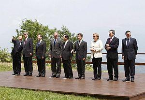 Foto de familia de los líderes del G8. (Foto: AFP)