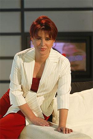 Cristina García Marcos, en el plató de 'Corazón, corazón'. (Foto: KIKE PARA)