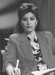 La presentadora, durante sus primeros años en TVE. (Foto: El Mundo)