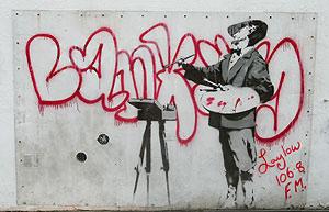 La obra de Banksy que fue subastada por 275.000 euros. (Foto: AFP)