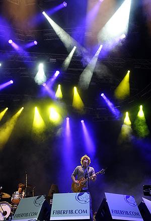Matthew Caws. cantante del grupo estadounidense Nada Surf. (Foto: AFP)