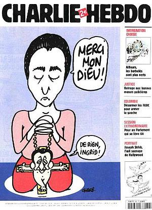 Portada del semanario francés Charlie Hebdo