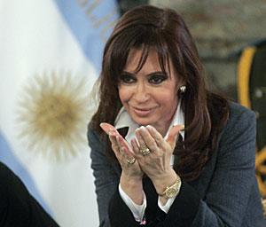 Cristina Fernández de Kirchner en la Casa Rosada. (Foto: Reuters   Marcos Brindicci)