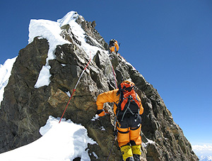 Momento del ascenso al Broad Peak.