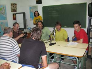 Los presidiarios, en un momento de la emisión. (Foto: Víctor López).