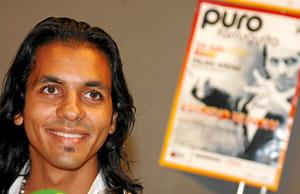 Farruquito durante la presentación en Palma de 'Puro'. (Foto: Jordi Avellà)
